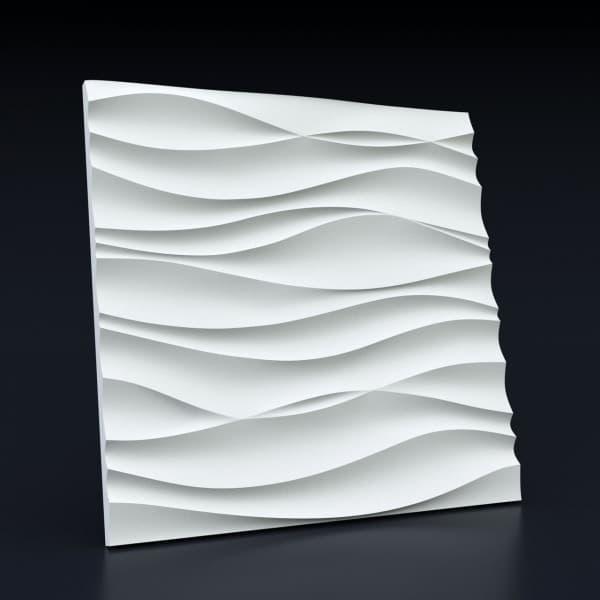 Гипсовые 3D-панели Волна горизонтальная 50x50 см