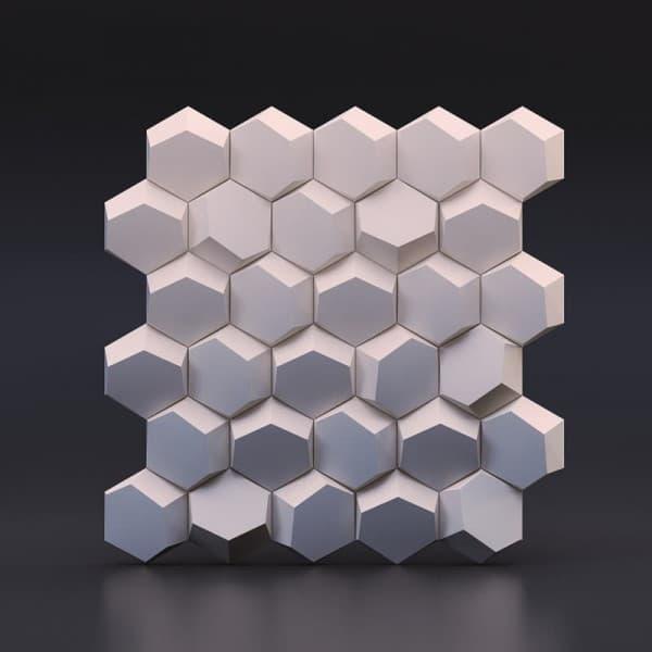 Гипсовые 3D-панели Улей 50x50 см
