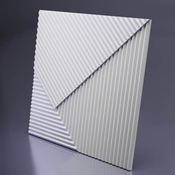 Гипсовые 3D-панели Параллель 50x50 см