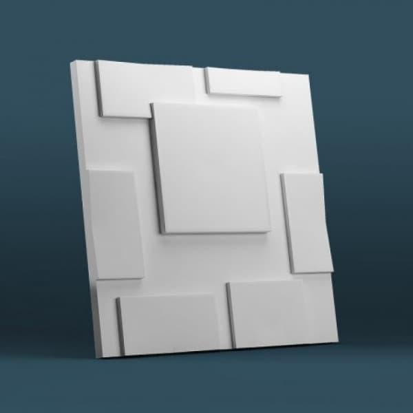 Гипсовые 3D-панели Квадрат 50x50 см