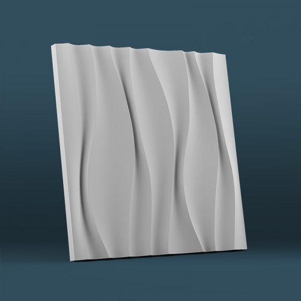 Гипсовые 3D-панели Водопад 50x50 см