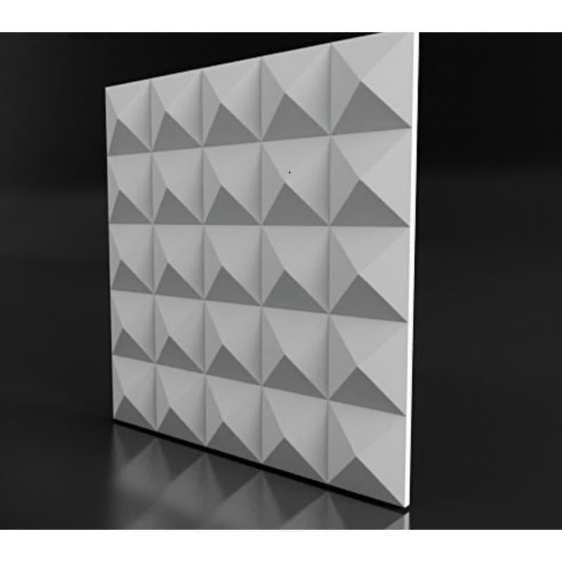 Гипсовые 3D-панели Ромб 50x50 см