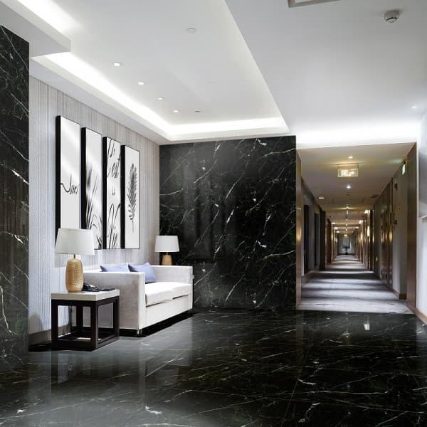 Керамогранит полированный Уральский гранит Granitea G385P Karatash Black, Толщина 10 мм, 1,44 м2